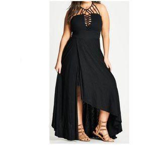 City Chic Plait detail Maxi dress